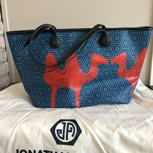 Jonathan Adler Duchess medium tote with camels